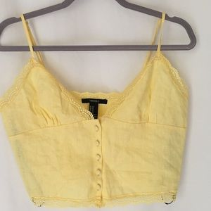 3 fo $25 Forever 21 cropped tank yellow sz M